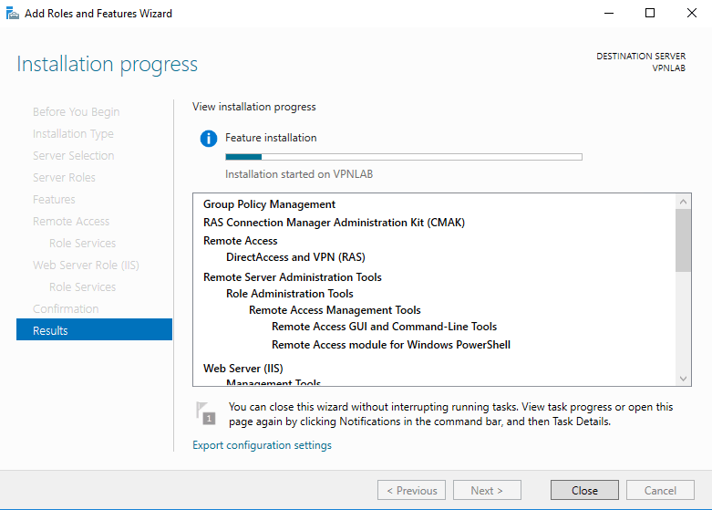 Create an SSTP VPN Server in Windows Server 2016