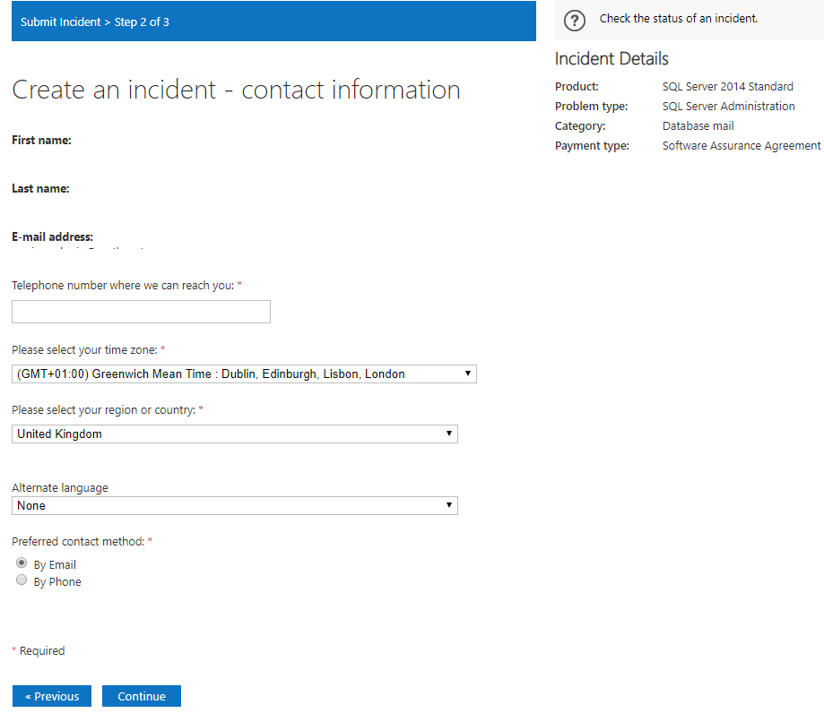 How to raise a ticket to Microsoft Professional Support