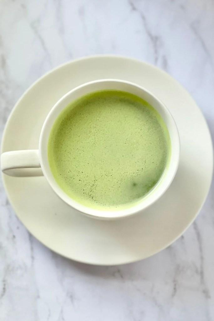 tea cup of matcha