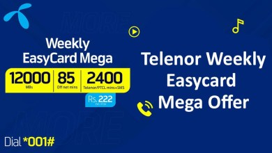 Telenor Weekly EasyCard Mega, More Se Zyada data, Minutes and SMS