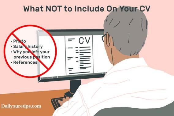 Never Put These 5 Things On Your CV When Applying For A Job