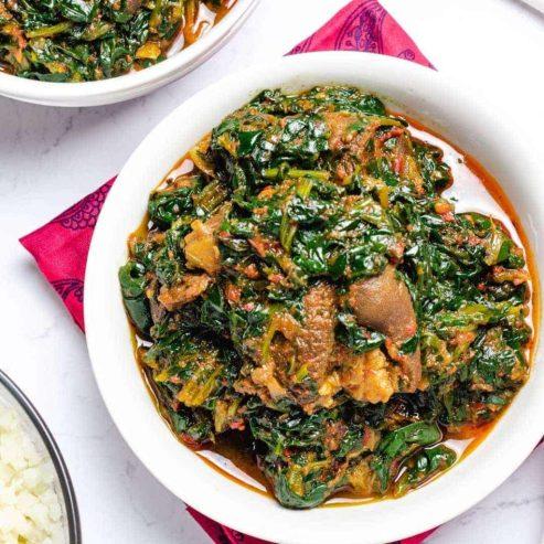 Efo riro/ Vegetable soup - Best Yoruba Foods