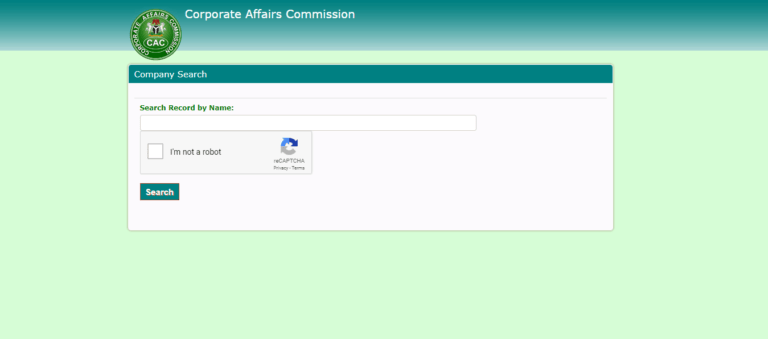 Checking Availability Code For CAC Company Registration