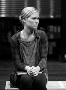 """School ties ·  Julia Stiles take a break from movies to star in esteemed playwright David Mamet's """"Oleanna,"""" now onstage at the Mark Taper Forum in Downtown Los Angeles. -  Photos Courtesy of Center Theatre Group"""