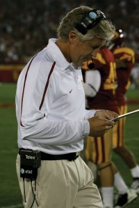 Lingering issues · After USC failed to clean up its penalties and fumbling, Pete Carroll said his team still has plenty of work to do. - Dieuwertje Kast | Daily Trojan