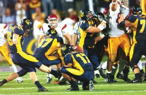 Hollywood ending · Six seasons ago, Tyler Fredrickson knocked in the game-winning field goal to lift Cal over USC in overtime. Now a graduate film student at USC, he's still trying to create moments fit for Hollywood. - Photo courtesy of Cal Athletics Media Relations