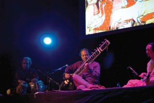 Melodic rifts · Audiences at Bovard got a taste of traditional Hindustani music Sunday with acclaimed sitarist Nishat Khan's performance. - Vicki Yang | Daily Trojan