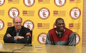 Real talk · Men's basketball coach Kevin O'Neill says his team will be thin at point guard and opponents will be gunning for Dwight Lewis. - Dieuwertje Kast | Daily Trojan