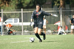 The constant · Goalie Kristin Olsen has been the Women of Troy's most dependable player with 101 saves and an 83 percent save rate. - Nathaniel Gonzalez | Daily Trojan