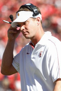 Ticking clock · With losses mounting and recruits leaving, Kiffin may be looking over his shoulder at Haden after Kevin O'Neill's dismissal. – Carlo Acenas | Daily Trojan