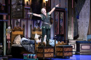 Reunited · Cathy Rigby revisits her role as Peter Pan for the fifth time in the Los Angeles production. This is the first time she's performed at the Pantages Theater since 2004 and the performance may be her last. - Courtesy of Michael Lamont