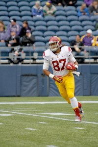 Grand theft · Tight end Junior Pomee was arrested on suspicion of possessing stolen electronics. He pled not guilty Jan. 31 and is free on bail. - Daily Trojan file photo