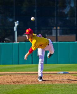 Going the distance · With a depleted bullpen, freshman lefthander Kyle Twomey threw a complete game in Sunday's 4-2 win over CSUN. — Joseph Chen   Daily Trojan