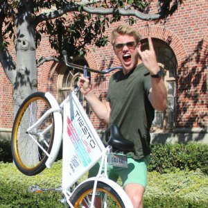 Park it · Johan Bender, who graduated from the Copenhagen Business School in 2012, spent a fall semester at USC, where he helped establish the FreeBike Project. The business leases free bikes to students on campus.  - Courtesy of Johan Bender