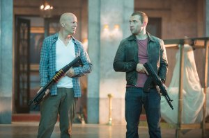Guys and guns · John McClane (Bruce Willis) reconnects with his estranged son Jack (Jai Courtney) to join forces and stop a nuclear weapons heist. The narrative of their relationship is one of the film's strongest points. -  Courtesy of Frank Masi