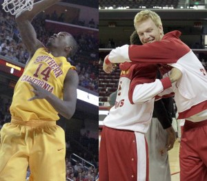 Shorthanded · Junior center Dewayne Dedmon (left) and senior center James Blasczyk will be absent from all team activity as the rest of the team prepares to begin play at the Pac-12 tournament in Las Vegas. - Ralf Cheung | Daily Trojan