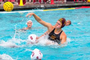 Hats off · USC junior two-meter Hannah Buckling led the charge for the Women of Troy in the finals of the Mountain Pacific Sports Federation tournament, scoring a game-high four goals in the team's 11-7 victory. - Ralf Cheung | Daily Trojan