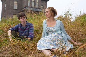 Family ties · Bates Motel, staring Norman Bates (Freddie Highmore, left) and his mother, Norma Louise Bates (Vera Farmiga, right), delves deeper into the backstory of how Norman became an infamous serial killer.  - Courtesy of A&E
