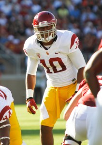 Lead by example · USC redshirt junior linebacker Hayes Pullard, one of the most experienced players on the team, lets his play do the talking. - Daily Trojan File Photo