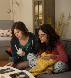 Can't get Enough · Julia Louis-Dreyfuss (right) plays the role of Eva, a Los Angeles massage therapist whose love interest (Gandolfini, not pictured) turns out to be the dreaded ex-husband of a close friend. - Courtesy of Fox Searchlight Films