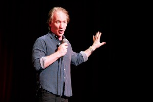 Real time · Bill Maher entertained with quirky quips and jabs regarding American politics on Tuesday at Bovard Auditorium. - Photo courtesy of Shabnam Ferdowsi