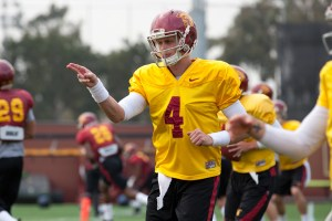 Chasing the dream · Redshirt freshman Max Browne is entering the 2014 season with hopes of landing the starting quarterback position. Browne's competition is incumbent starter Cody Kessler, a redshirt junior. - Ralf Cheung | Daily Trojan