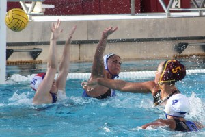 Make a splash · Senior two-meter Maddie Rosenthal scored two of USC's 21 goals against CSU Bakersfield in the team's meeting at the UCI Invitational. The co-captain has scored 15 goals for the Women of Troy this season. - Daily Trojan File Photo