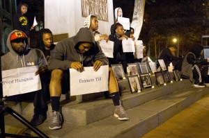 Remembrance · More than 60 students, many from the Black Student Assembly, gathered at Tommy Trojan on Wednesday night to share stories of victims of racialized violence over the past seven decades.  - Austin Vogel | Daily Trojan