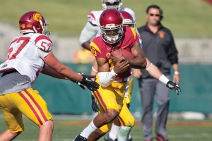 Young gun · Freshman quarterback Jalen Greene was highly successful while playing at Serra-Gardena High School, but has been overshadowed by other USC quarterback recruits, namely Max Browne and Ricky Town. - Ralf Cheung | Daily Trojan
