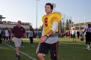 Unfinished business · Freshman Jalen Greene and redshirt freshman Max Browne gave Cody Kessler (pictured) a run for his money, but the experienced Kessler separated himself in the last few practices. - Ralf Cheung | Daily Trojan