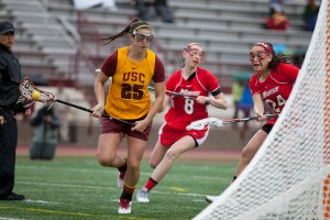 Leading the charge · Sophomore attacker Caroline de Lyra added six goals to her season total in USC's last regular season game against Marquette. De Lyra is third on the team with 25 goals this season. - Ralf Cheung | Daily Trojan