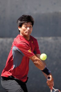 Final battle · Senior captain Ray Sarmiento will be one of two seniors honored today before singles play begins against crosstown rival UCLA. - Ralf Cheung   Daily Trojan