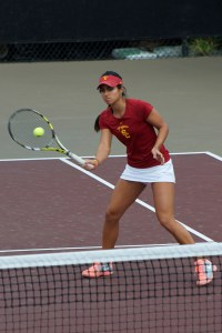 Finisher · Junior Zoë Scandalis clinched both of USC's matches this weekend, with 7-5, 6-4 victories against Arizona State and Arizona. - Jazmine Rolle | Daily Trojan