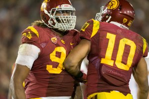 Ferocious · Junior defensive end Leonard Williams (94) barely saw any playing time in last year's game against Fresno State. Williams, who only recorded one tackle, will surely be out for blood in his 2014 debut. - Ralf Cheung | Daily Trojan
