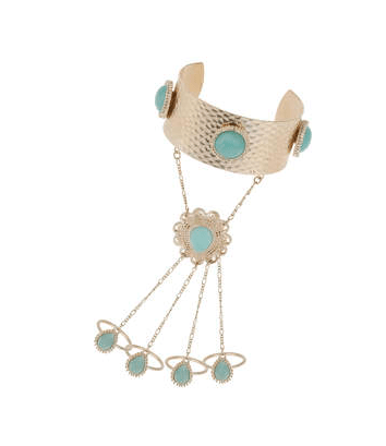 TOPSHOP Pastel Stone Hand Chain $30