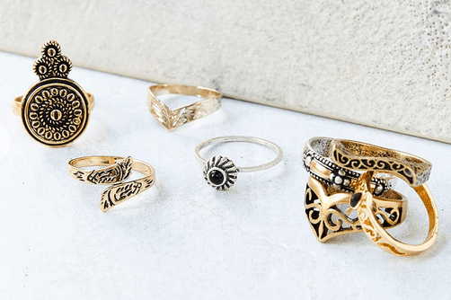 Urban Outfitters Collective Ring Set $24