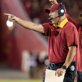 Tal Volk | Daily Trojan Immediate spotlight · Rather than facing an easier opponent in week  one, Clay Helton and the Trojans will open against the No. 1-ranked team.