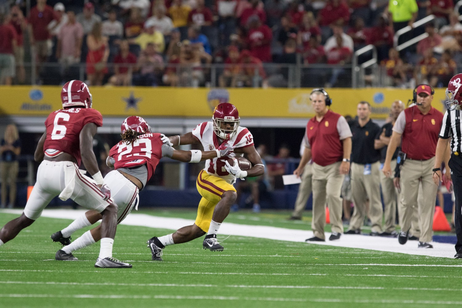 Sophomore tailback Dominic Davis ran for five yards on two carries Saturday against the Alabama Crimson Tide.