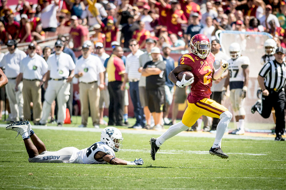Brian Chin | Daily Trojan Star power · Junior corner back, returner and wide receiver Adoree' Jackson was honored with the Lott IMPACT Player of the Week Award that is given to one player each week for an exceptional performance.