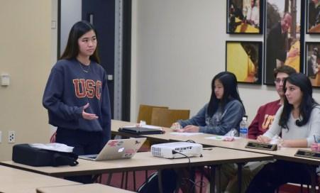 Ziru Ling | Daily Trojan Screen test · USG Senator Tiffany Lian spoke about her plan to implement date-rape drug screenings at the health center Tuesday.