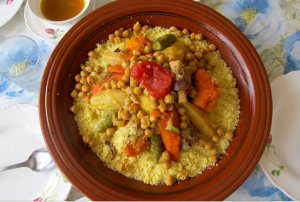 This is the real, OG couscous. It's small grained, fluffy, and only eaten on Fridays. Hands down my favorite Moroccan meal.