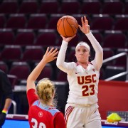 Madison Campbell attempts a shot in a game against LMU.