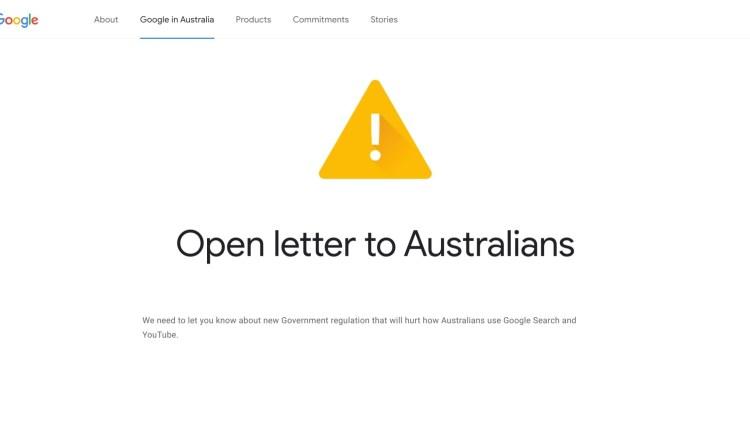 Google Australia Notice
