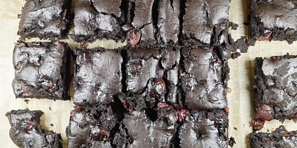 Vegan Black Forest Brownies