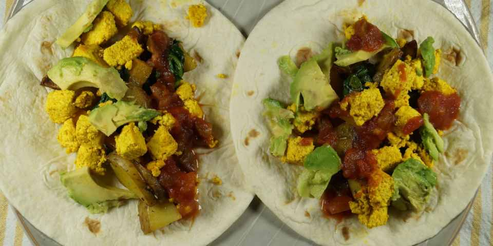 Vegan Breakfast Tacos with Tofu Scramble