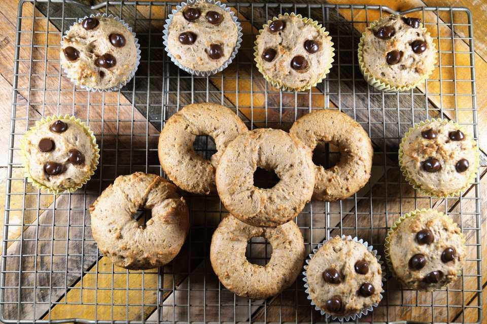Vegan Banana Bread Donuts and Muffins 5