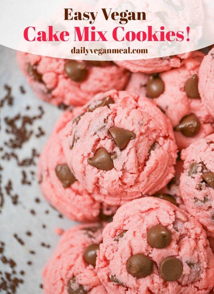 Easy Vegan Cake Mix Cookies
