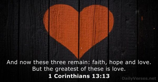 1 Corinthians 13:13 - Bible verse of the day - DailyVerses.net