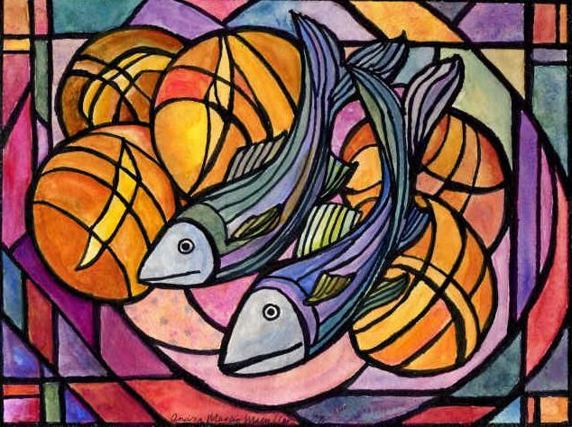 Loaves and fishes daily virtue for Loaves and fish