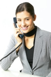 woman working the hotline